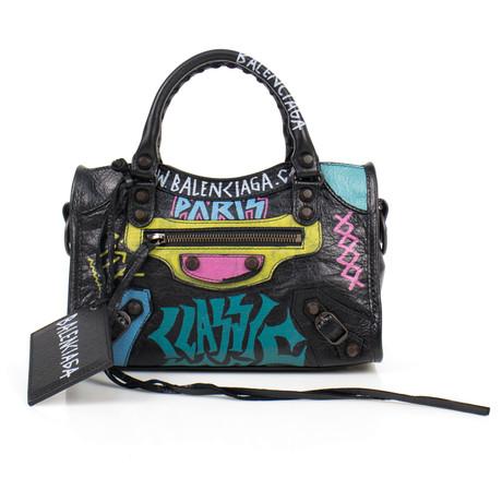 Mini City AJ Graffiti Satchel Bag // Multi-Color