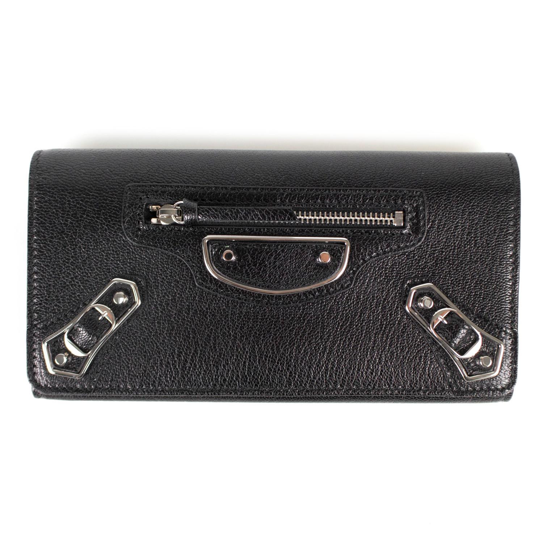 1e2e0726c1 Metallic Money Zip Around Clutch Wallet // Black - Luxury Fashion ...