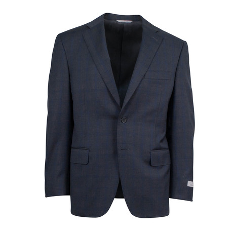 Windowpane Wool 2 Button Suit V1 // Gray (US: 46S)