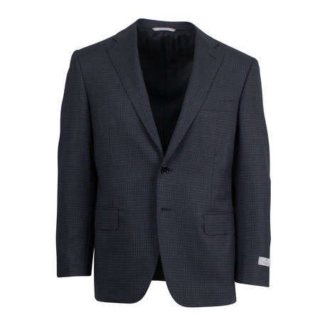 Micro-Check Wool 2 Button Suit // Gray (US: 46S)
