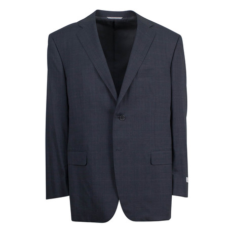 Plaid Pattern Wool 2 Button Suit // Gray (US: 46S)