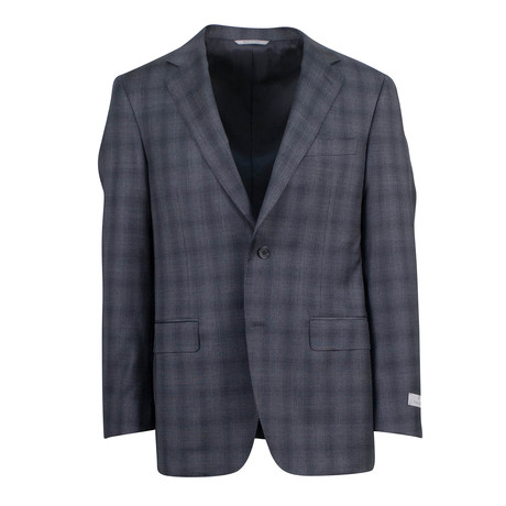 Glen Plaid Wool 2 Button Suit // Brown (US: 46S)