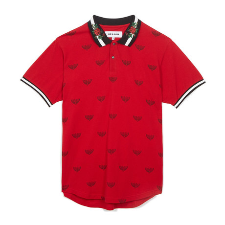 Regal Print Polo Red