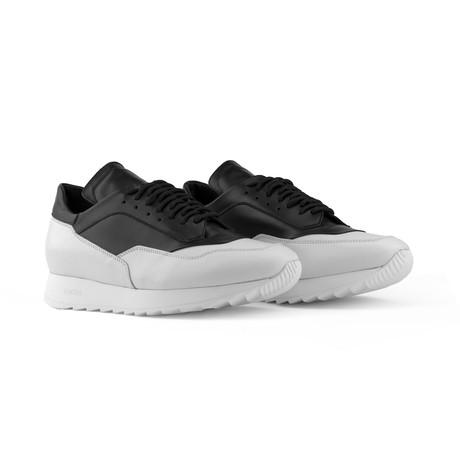 Trajan Calfskin Sneakers // White + Black (US: 7)