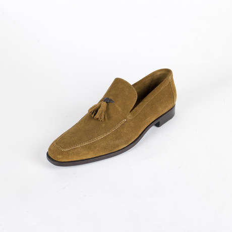 Suede Leather Tassel Shoes // Brown