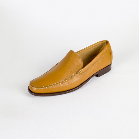 Cognac Leather Loafers // Brown
