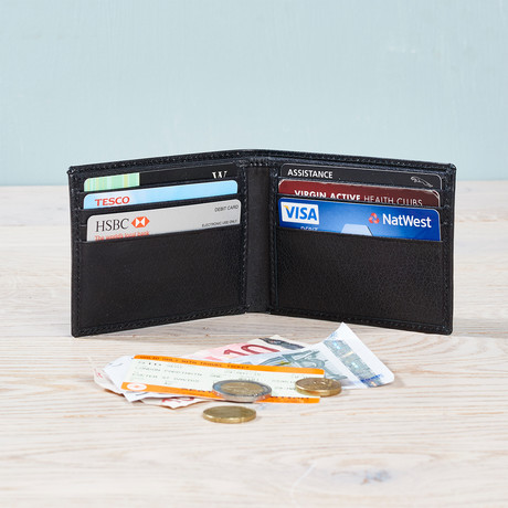 Leather Credit Card Wallet // Black (Black)