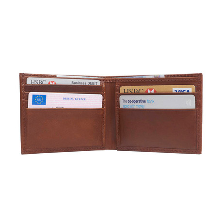 Leather Credit Card Wallet // Dark Tan (Dark Tan)