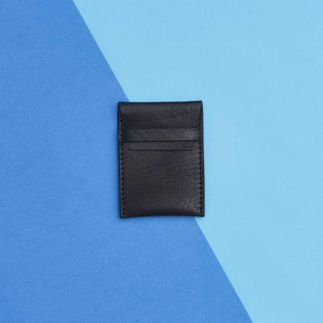 Leather Credit Card Pouch // Black (Black)