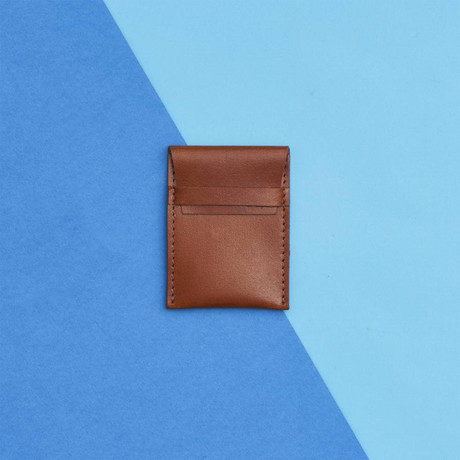 Leather Credit Card Pouch // Dark Tan (Dark Tan)