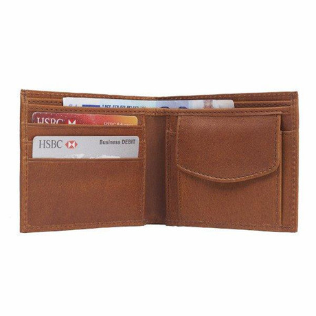 Leather Wallet + Coin Section // Dark Tan (Dark Tan)