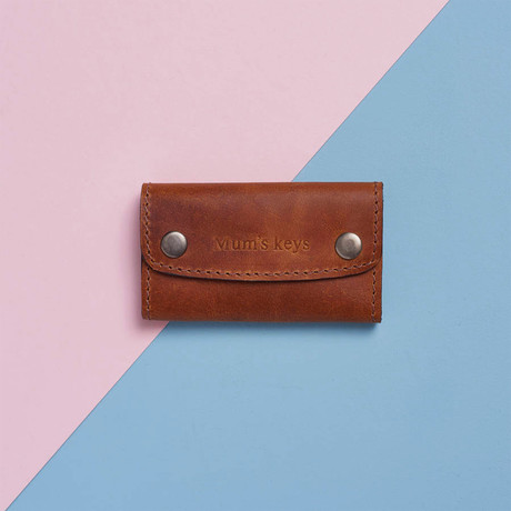 Leather Key Holder // Tan (Tan)