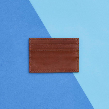 Men's Leather Credit Card Holder // Tan (Tan)