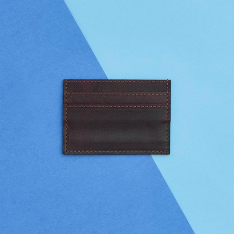 Men's Leather Credit Card Holder // Brown (Brown)