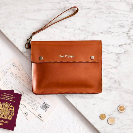 Leather Family Travel Wallet // Dark Tan (Dark Tan)