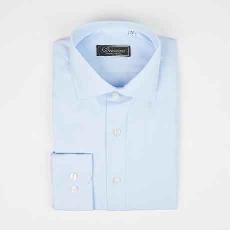 Luca Baretti // Modern Fit Shirt // Light Blue Woven