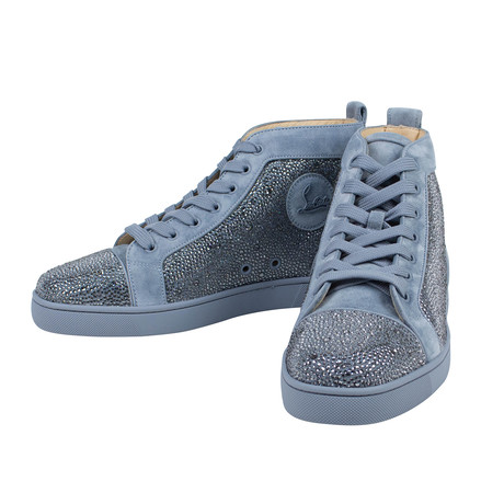 Louis Orlato Strass Suede Hi-Top Sneakers  // Blue (Euro: 40)