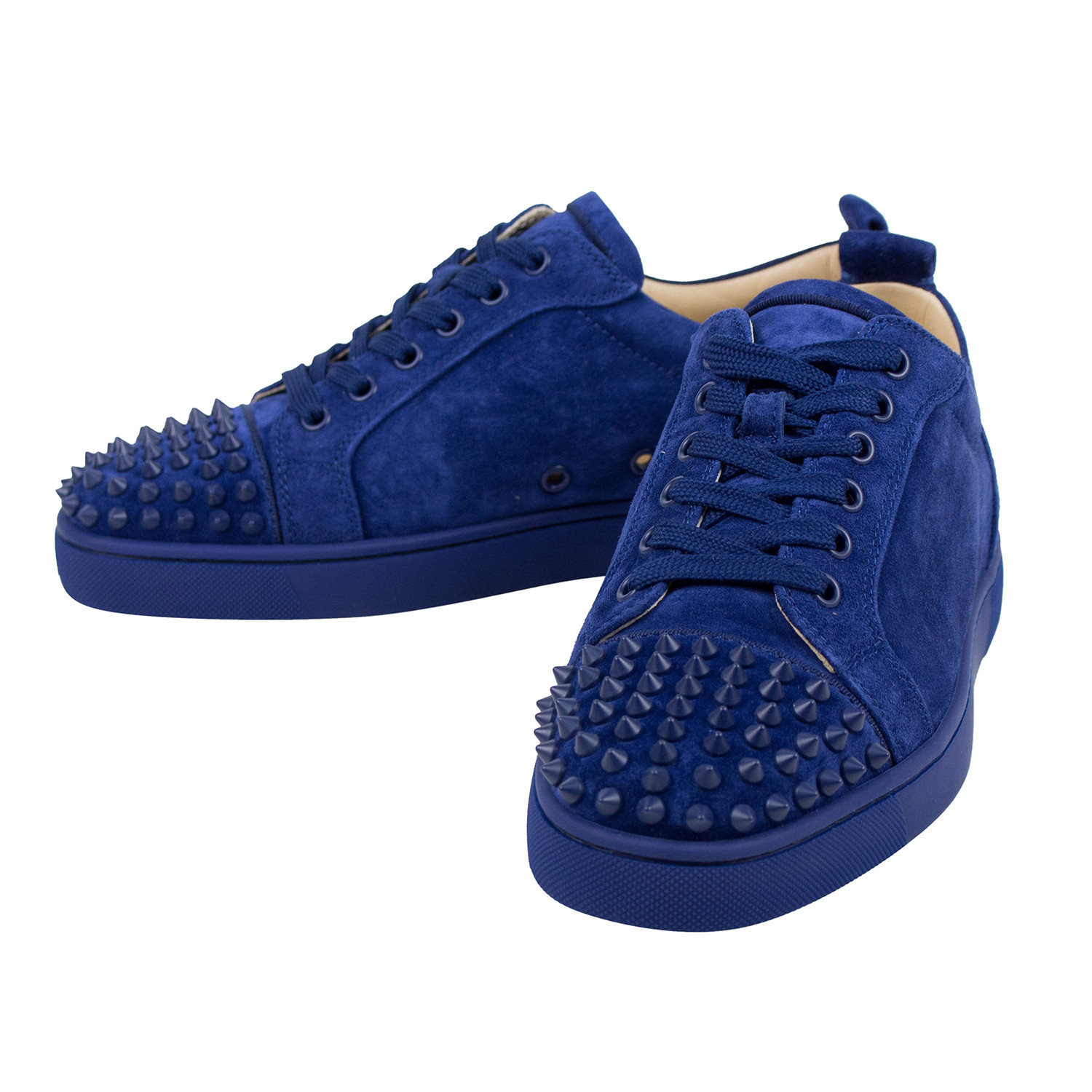 new style 506dc 83106 Louis Junior Suede Low-Top Spike Sneakers // Blue (US: 6 ...