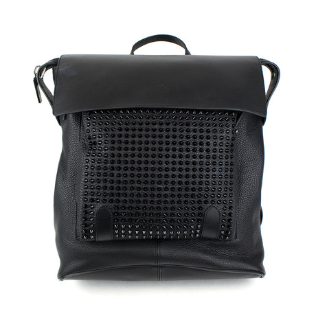 Christian Louboutin // Syd New Strass Leather Backpack // Black