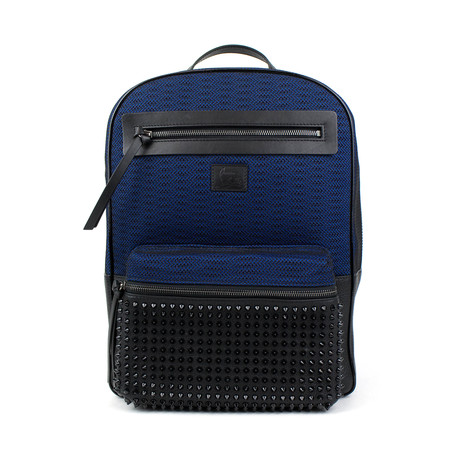 Aliosha Calf-Neoprene Backpack // Black + Blue