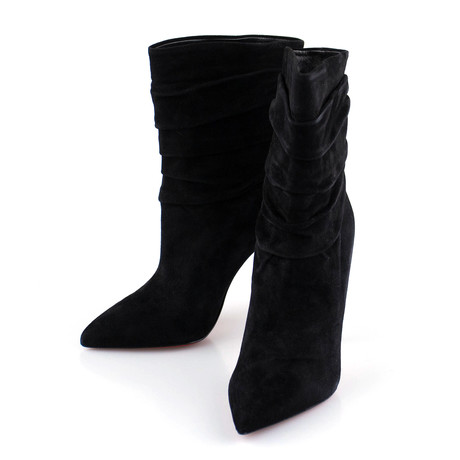 Women's // Suede Ishtar Booty 10mm Ankle Boots // Black (Euro: 40)