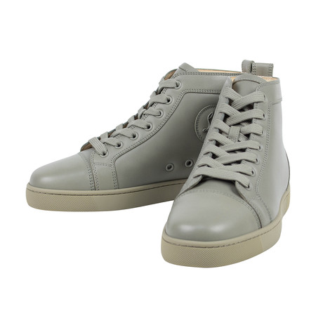 Louis Olive Leather Hi-Top Sneakers  // Sage (Euro: 40)