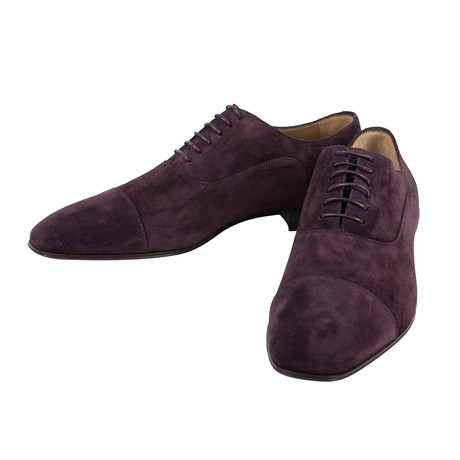 Greggo Suede Leather Oxfords Dress Shoes  // Brown (Euro: 40)