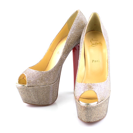 Women's Glitter Altareva 160mm Platform Pumps // Gold (Euro: 39)