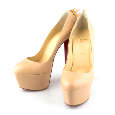 Women's Leather Electropump 160mm Spike Pump Heels // Nude (Euro: 40)