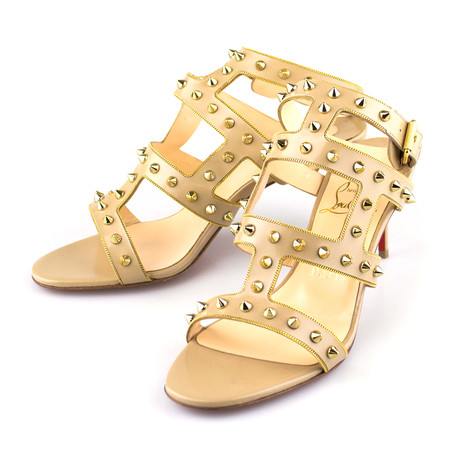 Women's Beige Sexystrapy 70mm Sandals // Beige (Euro: 40)