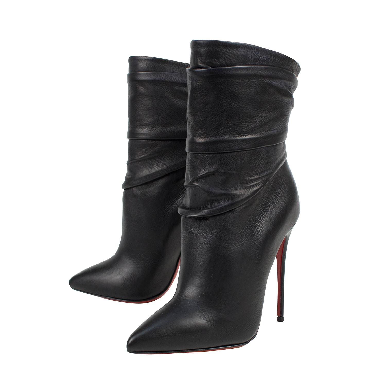 0c8fc6e81c6e Ishtar Booty Calf Leather 120mm Bootie Heels    Black (Euro  34 ...