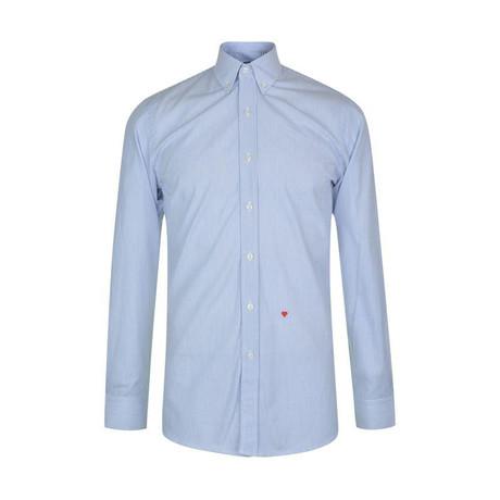 Moschino Sleeved Shirt // Blue Blue + White (L)