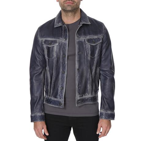 Leather Jacket // Blue