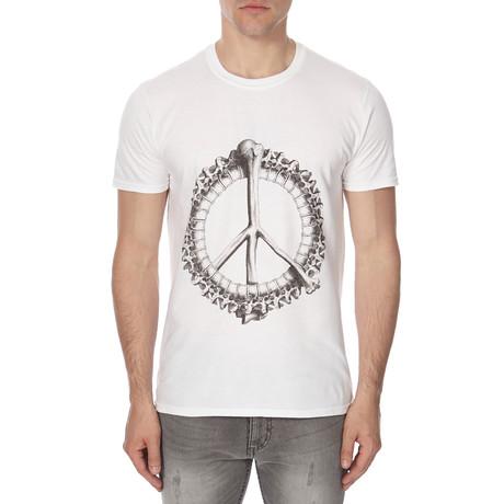 Peacebone T-Shirt // White