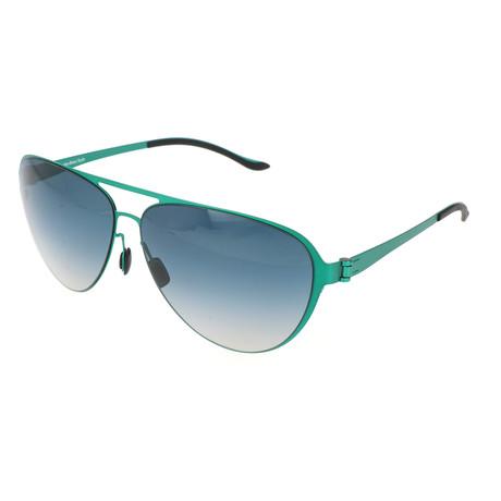 Men's M1040 Sunglasses // Green + Blue