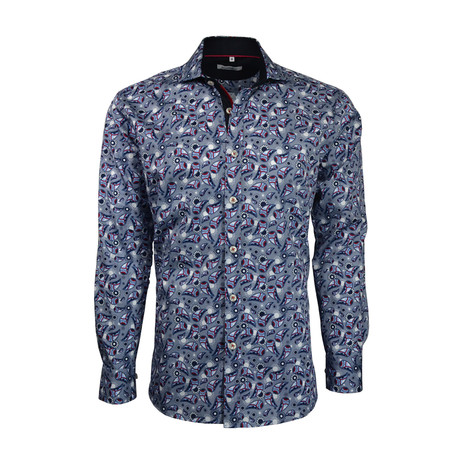 Paisley Button-Up // Blue (S)