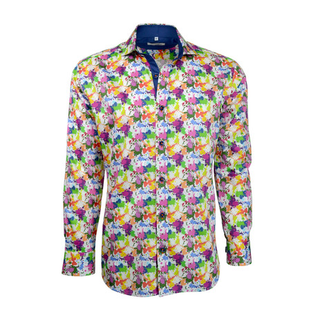 Paint Splash Button-Up // Multi (S)