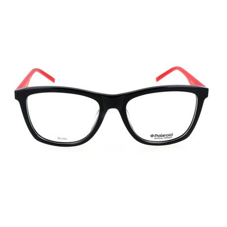 PLD-D305-1Q4 Optical Frame // Black + Red