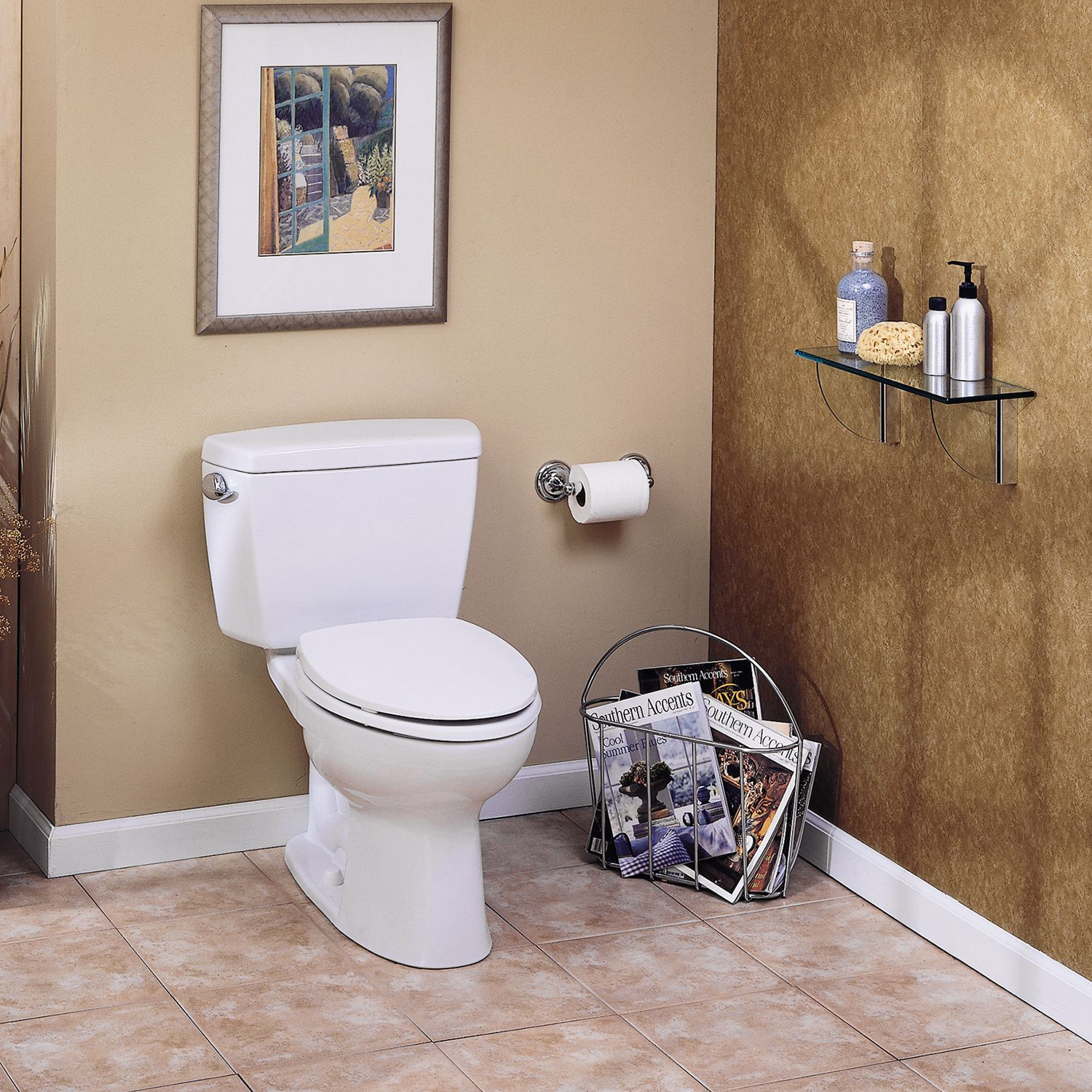 TOTO Eco Drake Elongated Two-Piece Toilet, E-Max Flushing System ...