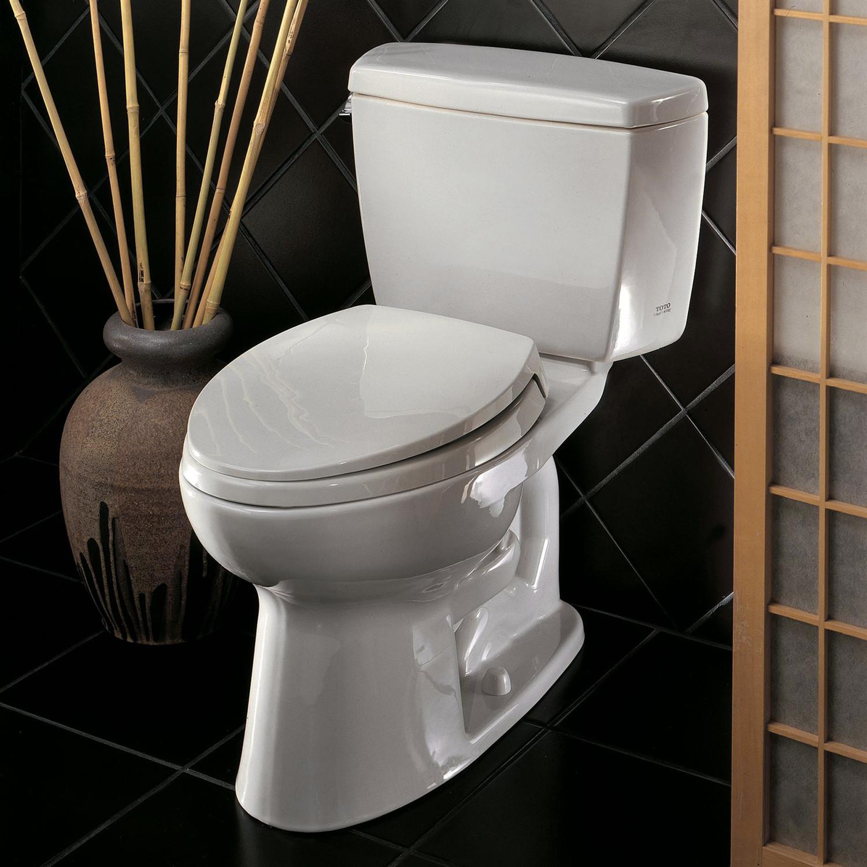 Toto Eco Drake Elongated Two Piece Toilet E Max Flushing System White