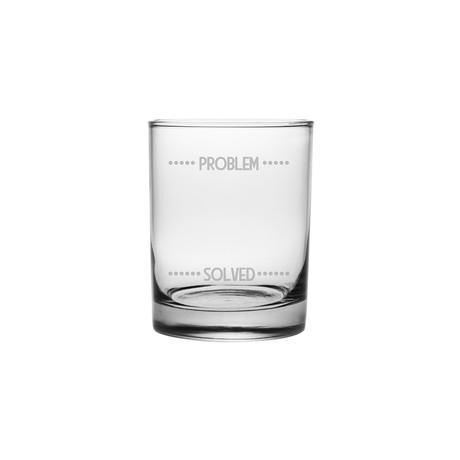 Problem Solved Rocks Glasses // Set of 4
