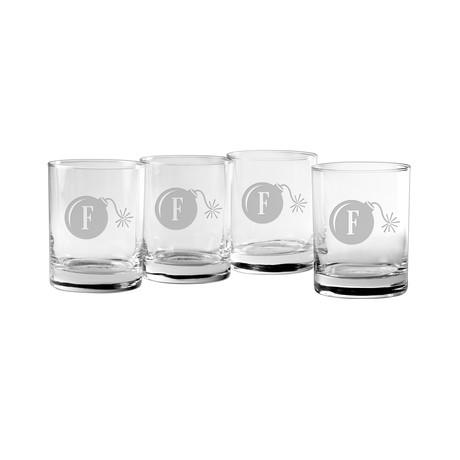 F-Bomb Rocks Glasses // Set of 4