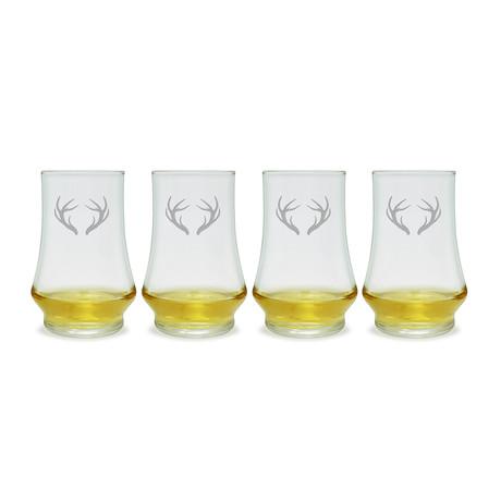 Caribou Antlers Whiskey Tasters // Set of 4