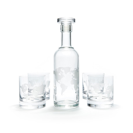Luigi Bormioli Classico Collection // Map of the World Set (Decanter Only)