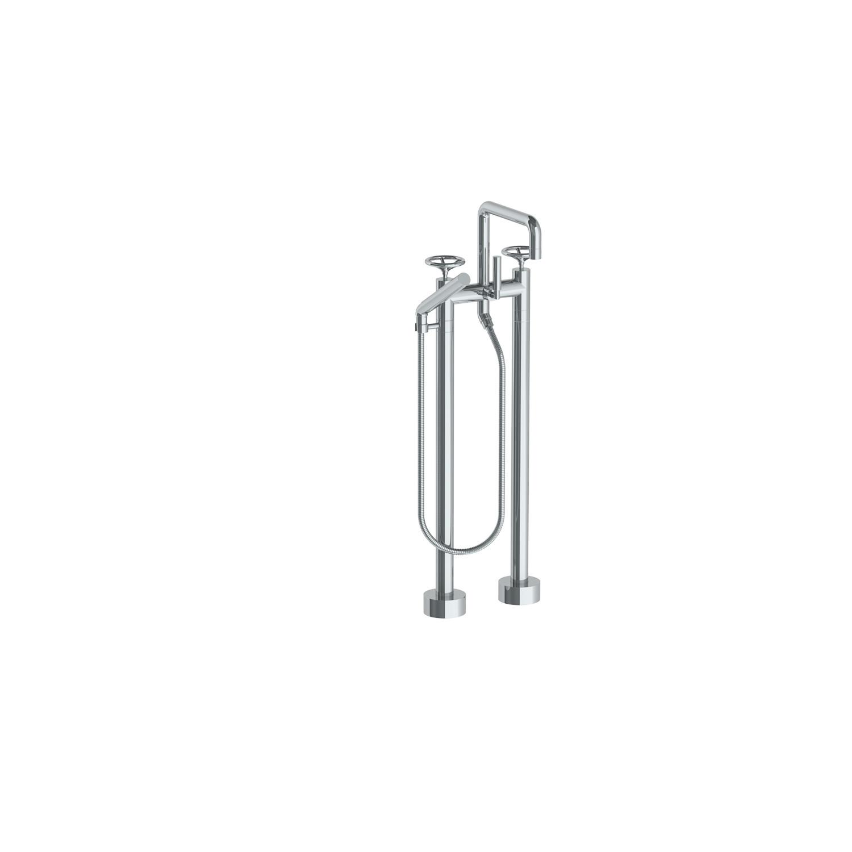 Brooklyn Floor Standing Square Bath Set + Slim Hand Shower (Matte ...