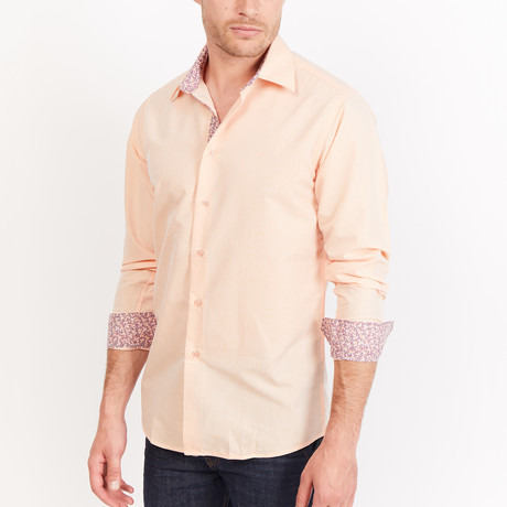 Button-Up Shirt // Peach (S)