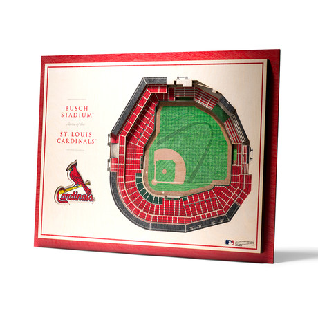 St. Louis Cardinals // Busch Stadium Wall Art (5-Layer)