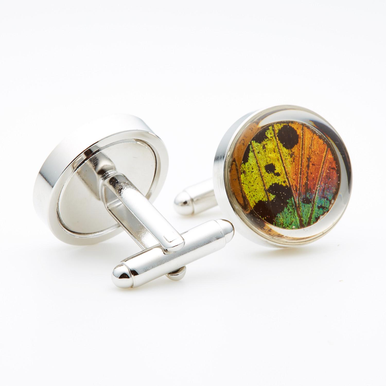 d57cfc282e08fc Rainbow Sunset Moth Wing Cufflinks - Asana Natural Arts - Touch of ...