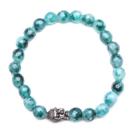 Buddha Bracelet // Jade Stone // Teal
