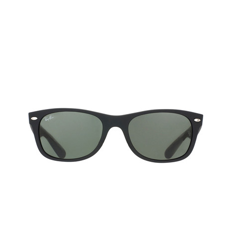 New Wayfarer // Black Rubber + G15